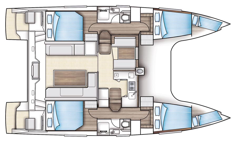 Nautitech Open 40 - Yacht Charter Croatia - layout - Blue Point