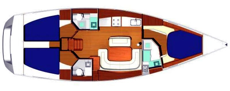 Oceanis 423 - Yacht Charter Croatia - layout