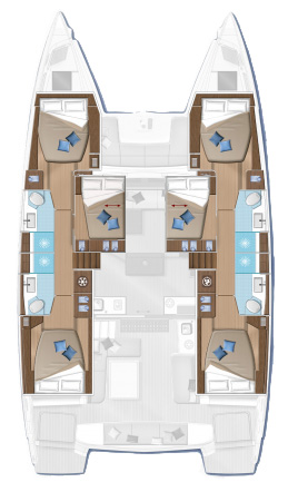 Lagoon 50 Fly - Yacht Charter Croatia - layout