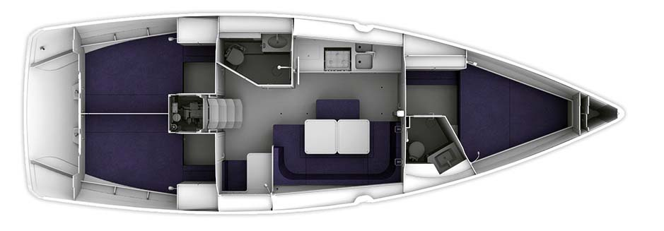 Bavaria Cruiser 41 - Yacht Charter Croatia - layout - my point