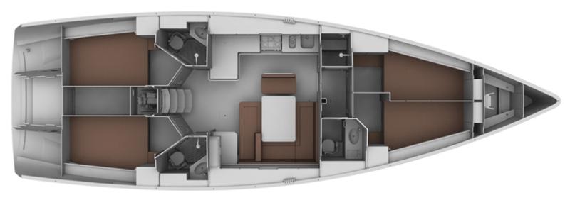 Bavaria Cruiser 37 - Yacht Charter Croatia - layout - mare