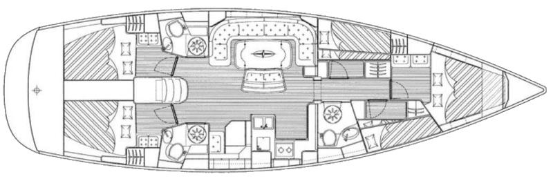 Bavaria 50 Cruiser - Yacht Charter Croatia - layout