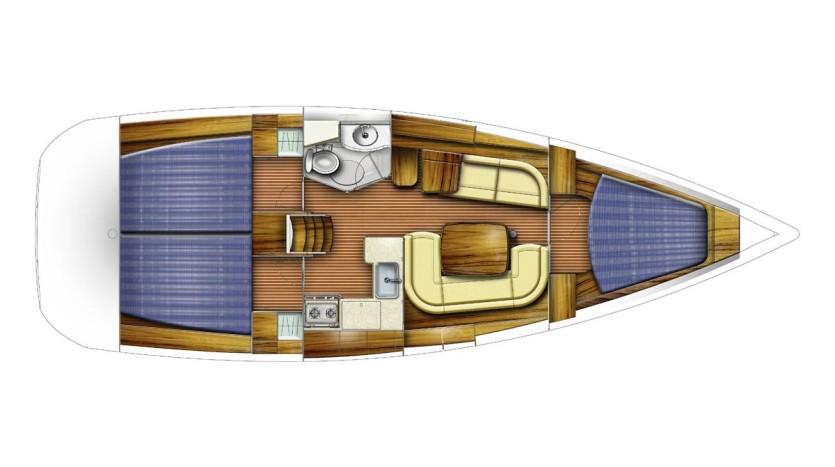 Sun odyssey 35 - Yacht Charter Croatia - layout - Bela Veronika