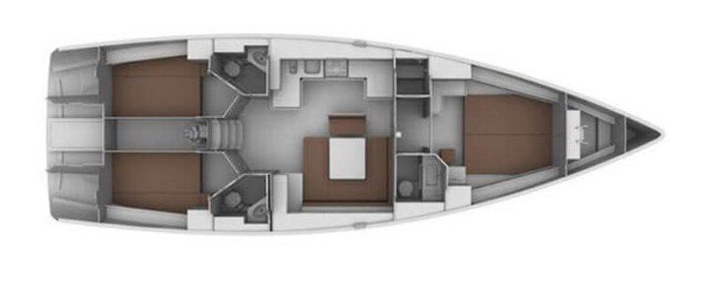 Yacht Charter Croatia Bavaria Cruiser 45 - Takeo (2011) Layout